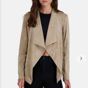 BB Dakota Wade Faux Suede Drape Jacket in Toffee S